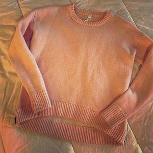 Lululemon yogi crew sweater pink hearts ❤️ 💕